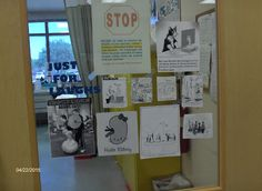 we hung cartoons around the lab for everyone to have a chuckle