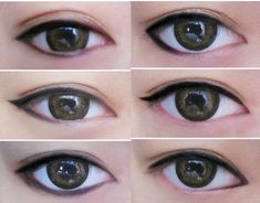 Eyeliner styles that change appearance of your eye shape ((this is the stuff i need to learn))