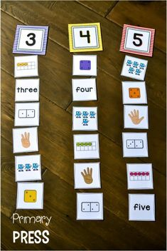 These number sorts are an amazing way for students to practice seeing numbers re.These number sorts are an amazing way for students to practice seeing numbers represented in a variety of ways. Teaching Numbers, Math Numbers, Teaching Math, Decomposing Numbers, Preschool Math, Kindergarten Classroom, Numbers For Preschool, Math Activities For Kindergarten, Subitizing Activities