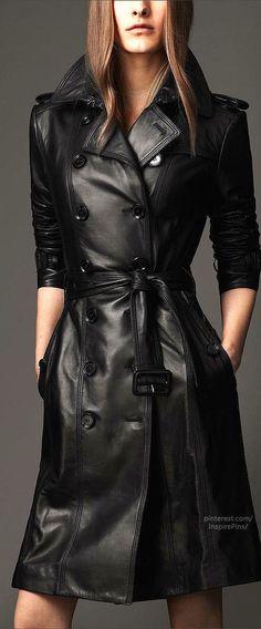 Long Lambskin Trench Coat | Burberry