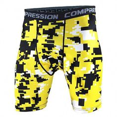 Mens Compression Shorts 2016 Summer Camouflage Bermuda Shorts Fitness Men Cossfit Bodybuilding Tights Camo Shorts S Rugby Shorts, Sport Shorts, Running Shorts, Workout Shorts, Jogging, Mens Tights, Shorts With Tights, Crossfit, Bermudas