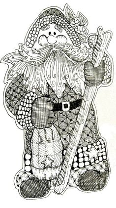 Adult Coloring Pages - Free to Print Santa Claus