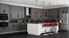 Inspiring Gray Kitchen Walls With Dark Cabinets Images Decoration Inspiration