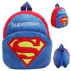 superhero superman blue logo toddler baby kids school backpack Childrens  Gifts e2f832285227e
