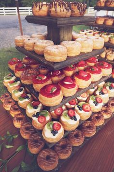 yummy wedding donut tower! so many delicious flavors! ~ we ❤ this! moncheribridals.com