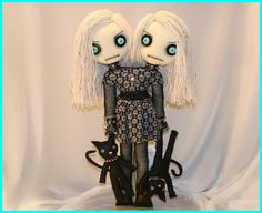Gothic Siamese Twin Doll By Jodi Cain - Awesome!