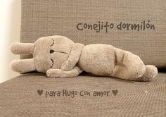 Mi mundo de baldosas amarillas: Conejito dormilón ♥ para Hugo con amor ♥