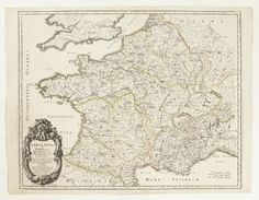 Karta över Frankrike, 1658