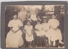 Vintage African American Antique Cabinet Photo Family