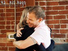 He gives hugs