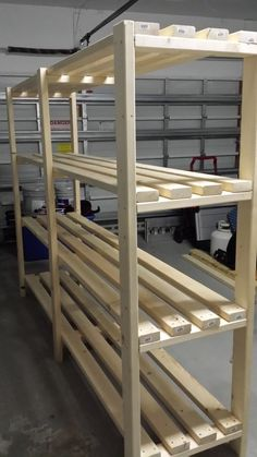 Basement storage Stylish 49 Relaxing Diy Garage Storage Organization Ideas Tips on Finding an Adiron Hanging Garage Shelves, Diy Storage Shelves, Diy Wood Shelves, Garage Storage Cabinets, Garage Shelving, Garage Shelf, Shelving Units, Craft Storage, Diy Storage Building