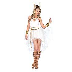 Fiesta de disfraces de Halloween de la Diosa Hermes Mujeres Blanco Poliéster – USD $ 29.99