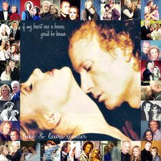 Collage of Luke and Laura over the years.
