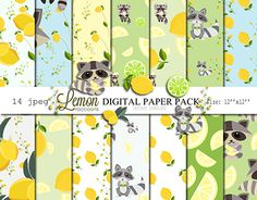 "Check out new work on my @Behance portfolio: ""Lemon raccoons Digital Paper Pack. Wrapping."" http://be.net/gallery/54032693/Lemon-raccoons-Digital-Paper-Pack-Wrapping"