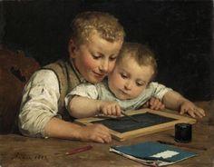 Swiss Genre Painter Albert Anker (1831-1910) ~ Blog of an Art Admirer