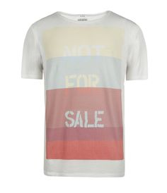 Blocking Cut Collar T-shirt by AllSaints Spitalfields    This t-shirt has been exclusively designed in partnership with the anti-human trafficking group Not For Sale. Proceeds from the line will benefit Not For Sale's work to combat human trafficking and prevent forced labour globally.