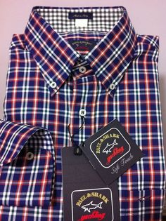 NWT$285+tax  Paul & Shark Italy Luxury Chic&Lovely Yachting Casual shirt L /42US #PaulShark #ButtonFront