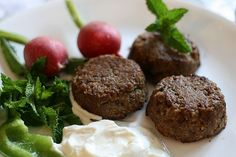 Traditional Lebanese Kibbeh Patties, ,