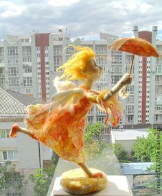 """Needle felted Angel Doll by VeraNika1117. Коллекционные куклы ручной работы. Ярмарка Мастеров - ручная работа Авторская кукла из шерсти """"Добрая весть"""". Handmade."""