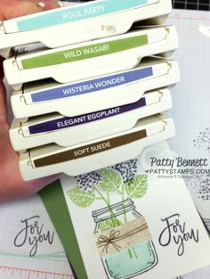 Stampin UP! color combo for the Jar of Love / Thoughtful Branches card by Patty Bennett