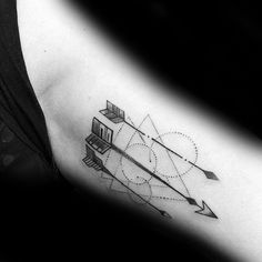 Mens Small Geometric Arrow Tattoo Ideas Inner Arm Bicep