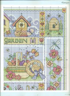 Point de croix -m@-Cross stitch garden 2