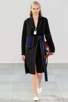 Spring 2015 Ready-to-Wear - Céline love the contrast topstitching!