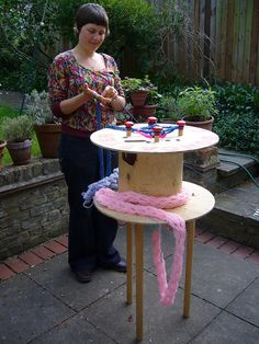 Giant Knitting Nancy by Miss Moneypickle, via Flickr