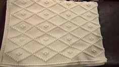 Ravelry, #crochet, free pattern, diamond bobble blanket, #haken, gratis patroon (Engels), diamant popcorn deken, #haakpatroon