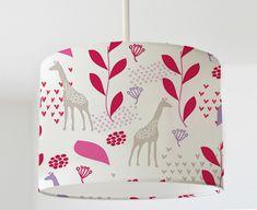 Lampenschirm ★Giraffen in Rosa ★  von zimmer.zimmer auf DaWanda.com