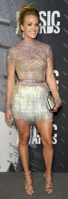 Carrie Underwood at the CMT Music Awards last night. Keith Urban and Carrie Underwood had a great performance last night