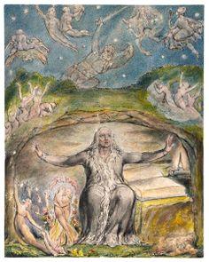 Illustration to Milton`s L`Allegro and Il Penseroso - William Blake