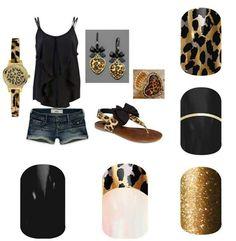 Love Golden Leopard Jamberry Nail Wraps!!! And Gold Streak! http://salonfresh.jamberrynails.net