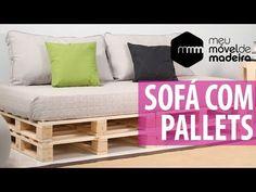 Simples, barato e fácil de fazer. Confira 53 modelos de sofá de palete com passo a passos em vídeo! Pallet Patio Furniture, Outdoor Sofa, Outdoor Decor, Toddler Bed, Sweet Home, Couch, Bedroom, Design, Home Decor