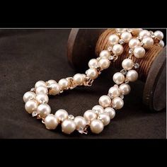 "Selling this ""BJ Beautifully elegant pearl crystal necklace"" in my Poshmark closet! My username is: hladner. #shopmycloset #poshmark #fashion #shopping #style #forsale #Betsey Johnson #Jewelry"