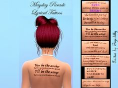 tigerlillyyyy's   TIGERLILLY   Mayday Parade Song Lyrics Tattoos