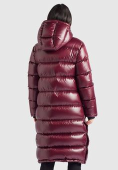 Down Winter Coats, Down Coat, Winter Jackets, Puffy Jacket, Bordeaux, Fashion Updates, Fabric Material, Cool Girl, Womens Fashion