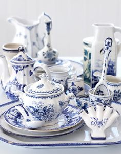 Vintage China  More than a millennium ago, during China's Tang Dynasty, artisans invented a color scheme for pottery that's still iconic. These blue-and-white Chinese patterns later enjoyed a renaissance in 16th-century Europe, most notably in Delft, the Dutch city where tin-glazed delftware was made.
