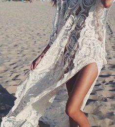 #summer #style white lace dress @wachabuy