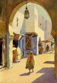 Watercolor painting of Tetouan