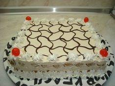ΥΛΙΚΑ: Μπισκοτα σαβαγιαρ 1 σοκολατουχο γαλα 2 πακετα σαβαγιαρ(το 1/2 θα περισεψει) 1 κουτι κρεμα Torre(το πρασινο κουτι με το χωνακι πα... Cookbook Recipes, Cooking Recipes, Cheesecake Cupcakes, Greek Recipes, Candy Recipes, Confectionery, Cheesecakes, No Bake Cake, Cupcake Cakes