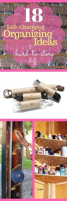 18 Life-Changing Organizing Ideas for Hard-to-Store Stuff - Camping gear…