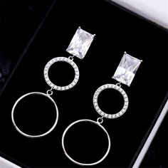 Online shopping for AAA zircon Inlay round circle tassel earring. Find out what's hot and new from our online store. It's Safe Payment and Worldwide Shipping.