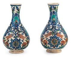 Turkish Kutahya Ceramic Vases  19-20th cent.