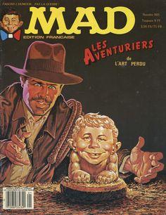 Imagen de la versión francesa del cómic MAD dedicado a los aventureros. EFE/Museo Archéa
