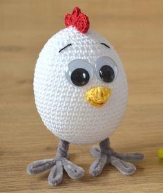 Uova PATTERN digitale pollo all'uncinetto Crochet di Likanacraft
