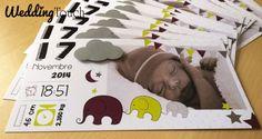 Faire-part de naissance influence indienne, éléphants, étoiles ©weddingtouch