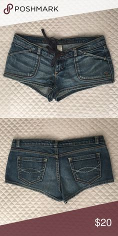 Abercrombie jeans BOOTY shorts Abercrombie and Fitch jeans booty shorts Abercrombie & Fitch Shorts Jean Shorts