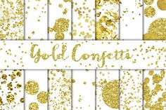 Check out Gold Confetti Overlays/Backgrounds by Studio Denmark on Creative Market