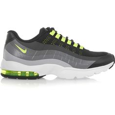 Nike Air Max 95 Ultra rubber and mesh sneakers, Women's, Size: 5.5 ($71) ❤ liked on Polyvore featuring shoes, black, light weight shoes, rubber footwear, nike footwear, black rubber shoes and nike shoes
